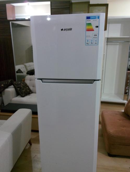 içi dışı temiz ikinci el arçelik iki kapılı buzdolabı